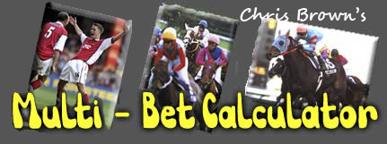 Win Multiple Bets Backing One Horse A Day  A Yankee Betting Calculator